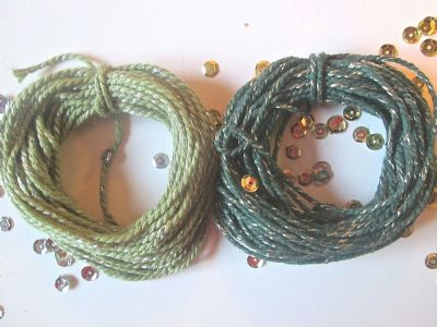 2mm Thick Cotton Bakers twine with Sparkle GREEN 5 or 10 metres
